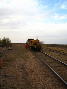 Coal train passing through Parachilna